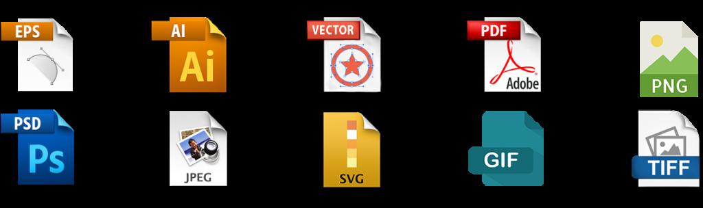 logo file formats we deliver: Adobe illustrator, vector file, PDF, png, Adobe Photoshop, Jpeg etc,